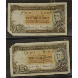 Elizabeth II Ten Shillings (3) Pounds (3) 5 Pounds 1 , A couple rusty