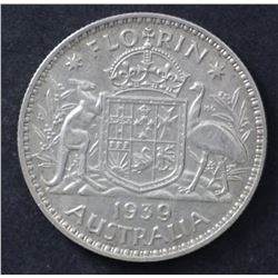 1939 Florin, Extremely Fine