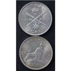 1951 Jubilee, 1954 RV, 1953 & 1954 Uncirculated