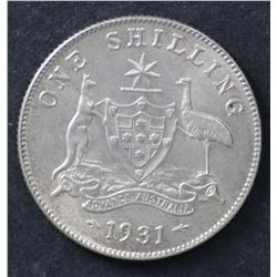 1931 Shilling Nearly Uncirculated