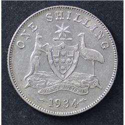 1934 Shilling Good VF