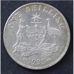 1935 Shilling Extremely Fine