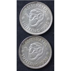 1938 & 1939 Shillings Nearly Unc
