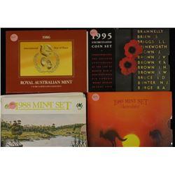 1988 Mint Sets (5), 1986, 1989, 1995