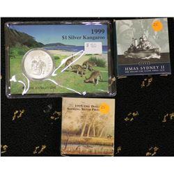 1999 Silver Kangaroo, 1995 Proof $1, 2000 Proof $1