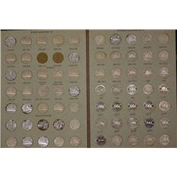 Canada 5c 1937 to 1980, 70 Coins in album, many type coins