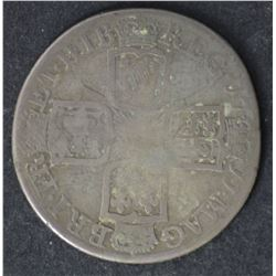GB Queen Anne Shilling 1711 Nearly Fine