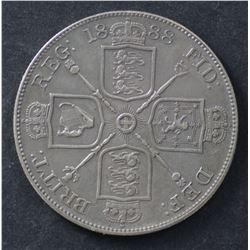 GB Double Florin 1888 VF