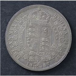 GB 1887 ½ Crown Uncirculated