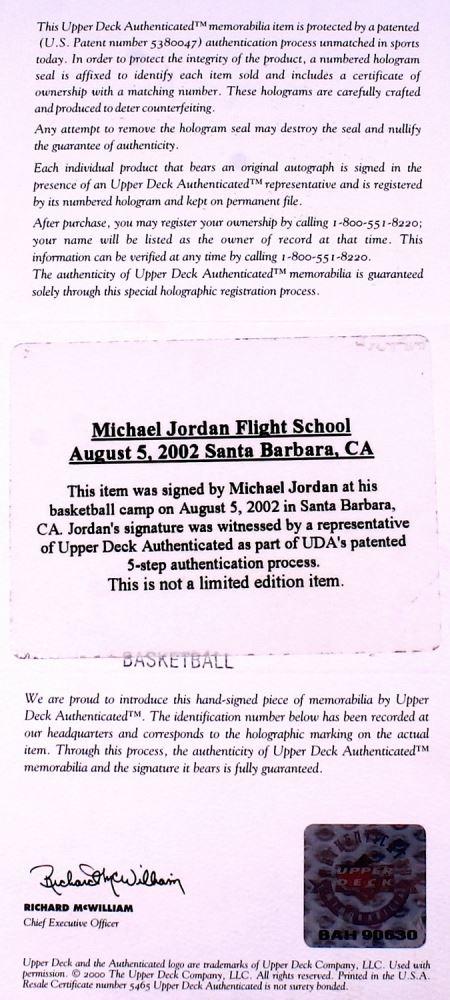 0315f369a01 ... Image 3 : Michael Jordan Signed Wilson Basketball (UDA COA)