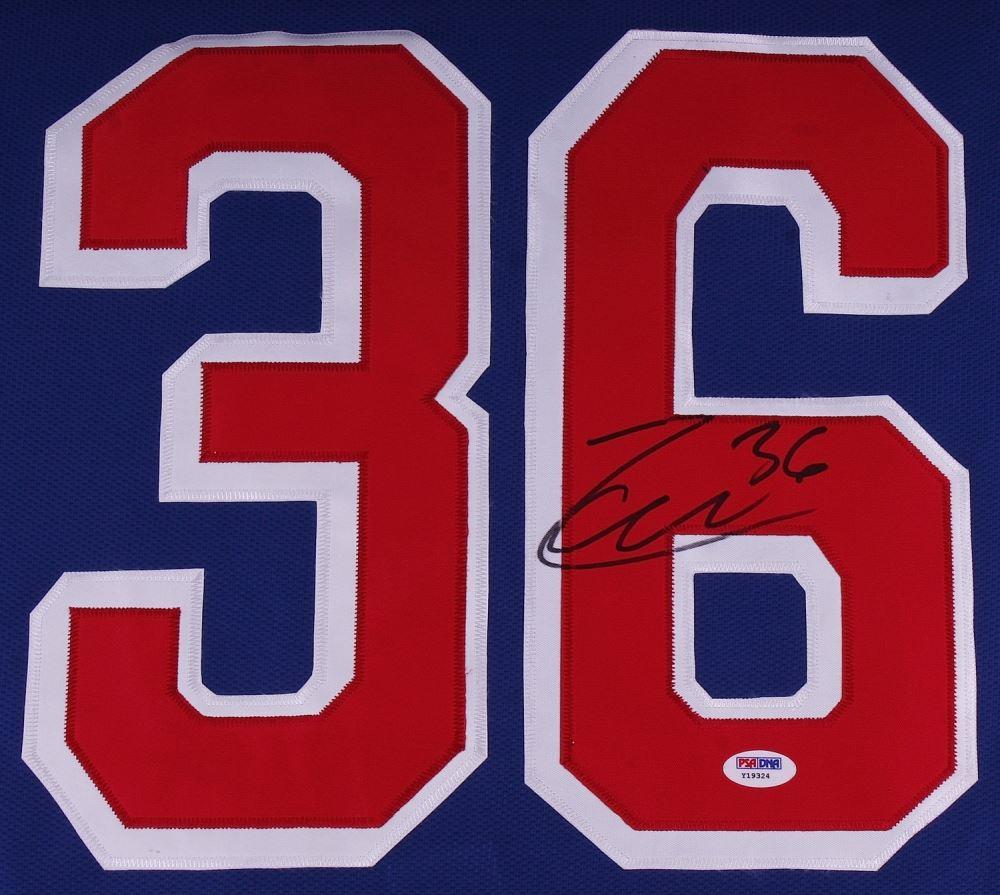 best website 18b50 72f6c Mats Zuccarello Signed Rangers Jersey (PSA COA)
