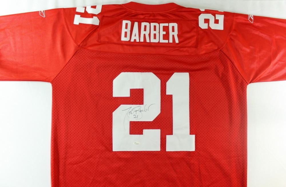 quality design d4091 d2857 Tiki Barber Signed Giants Jersey (JSA COA)