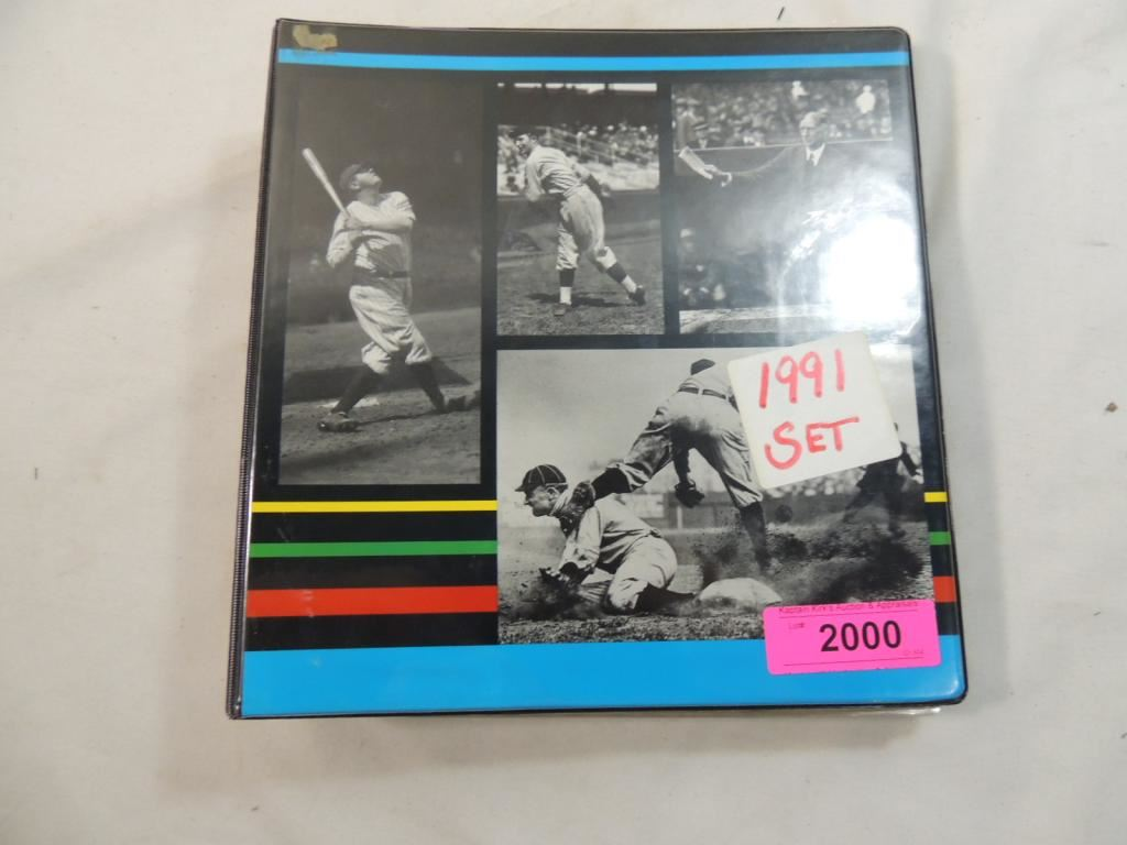1991 Upper Deck Baseball Card Set Binder