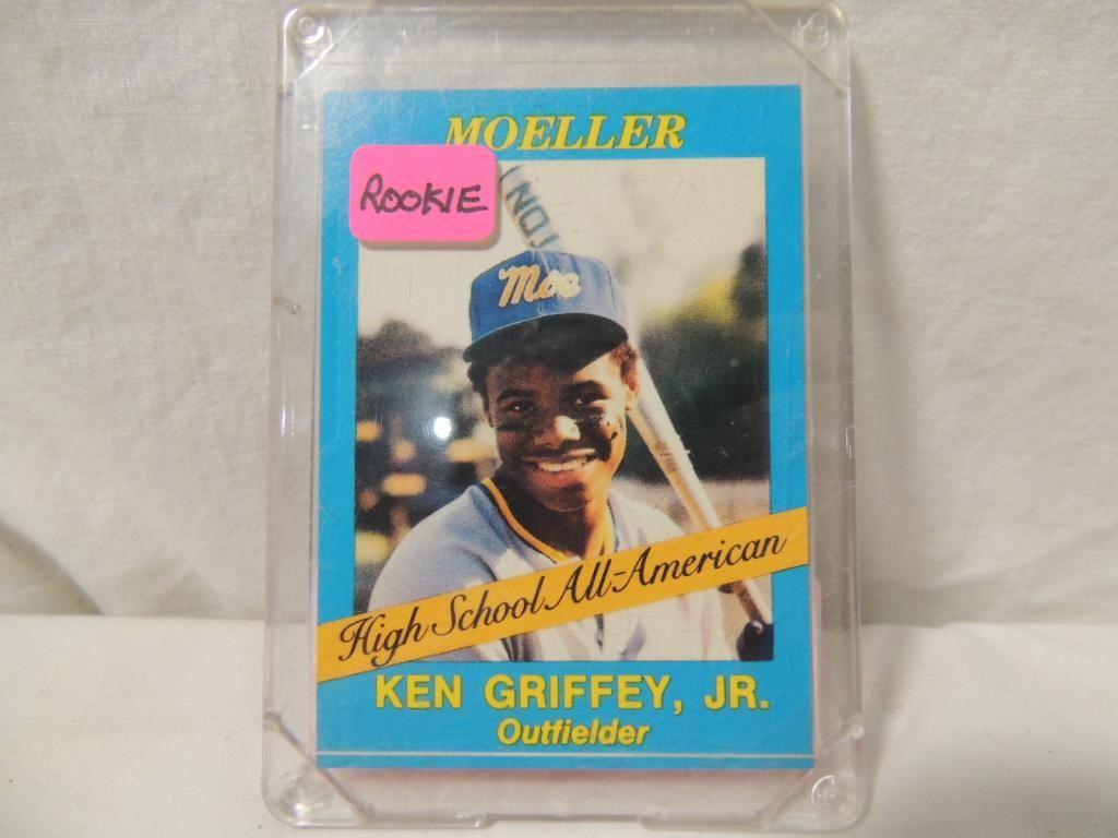 ecb15cdb58 Image 1 : 1987 MOELLER KEN GRIFFEY JR ROOKIE BASEBALL CARD ...