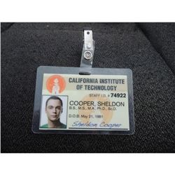 BIG BANG THEORY THE COOPER SHELDON CALIFORNIA INSTITUTE OF TECHNOLOGY STAFF ID