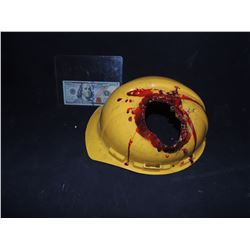 ALIENS AVP REQUIEM SCREEN USED HARD HAT WITH ALIEN JAW MELTED DAMAGE