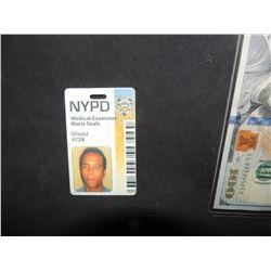 CSI ? NEW YORK MEDICAL EXAMINER BADGE