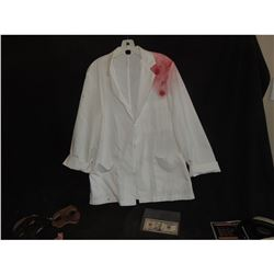 AVENGERS AGE OF ULTRON SCREEN USED BLOODY LAB COAT