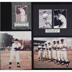 Four New York Yankees Photographs- Mantle DiMaggio