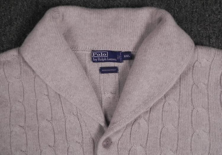 fa41f07f8 ... Image 2   Polo Mens Cashmere Cardigan Button Up Sweater XXL ...