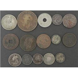 15) Old World Coins 1862-1919 England China Italy
