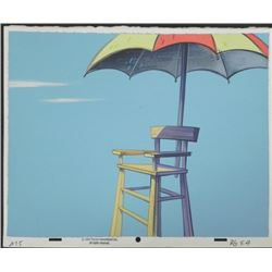 Ren & Stimpy Orig Production Background Lifeguard Chair