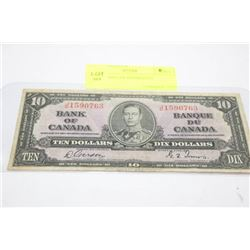 1937 10 DOLLAR BANKNOTE