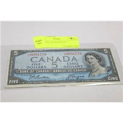 1954 5 DOLLAR BANKNOTE