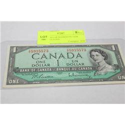 1954 1 DOLLAR BANKNOTE GEM UNCIRCULATED