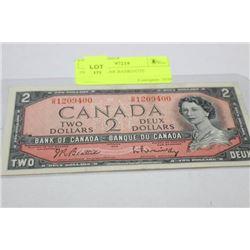 1954 2 DOLLAR BANKNOTE