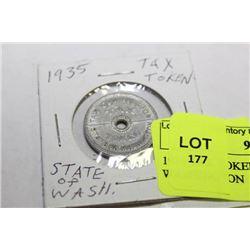 1935 TAX TOKEN STATE OF WASHINGTON