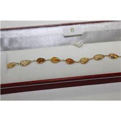 #8 14 KT GOLD OPAL BRACELET