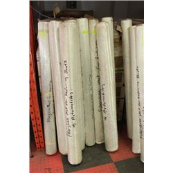 SMALL ROLLS OF FIBERGLASS MAT FOR REPAIRING BOATS