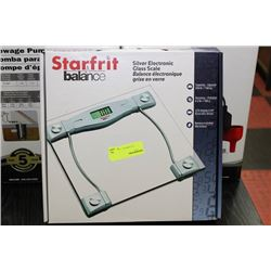 STAR FRIT SILVER ELECTRONIC GLASS SCALE