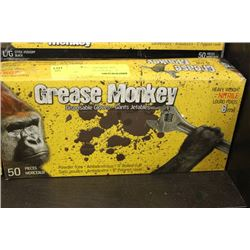 GREASE MONKEY DISPOSABLE GLOVES (50) SIZE L