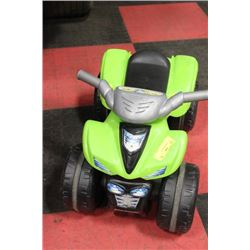 GREEN KIDS FOOT QUAD