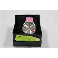 HELLO KITTY WATCH W PINK STRAP