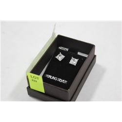 CUBIC STONE STERLING SILVER EARINGS