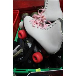BOX 3 PAIRS ROLLER SKATES MEN'S 11, GIRLS 6, NIKE