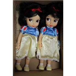 TWO SNOW WHITE DOLLS