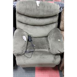 GREY FABRIC POWERLIFT CHAIR AS IS