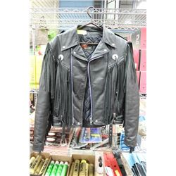 GOLDEN CROWN BY BRISTOL LEATHER BIKING JACKET