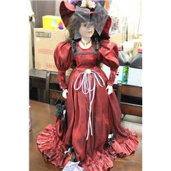 """PORCELAIN LIMITED EDITION """"REBECCA"""" DOLL W/ STAND"""