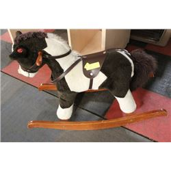ROCKING HORSE W/ SADDLE, HORSE AND TROTTING SOUNDS