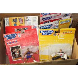 BOX 9 KENNER SPORTS FIGURINES