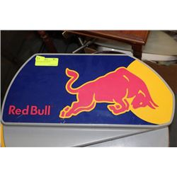PAIR OF RED BULL SIGNS