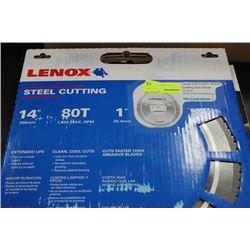 """LENOX 14"""" STEEL CUTTING SAW BLADE"""