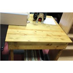 PINE KITCHEN TABLE WITH STORAGE