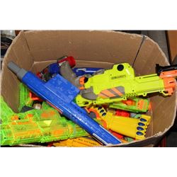 COLLECTION OF 10+ NERF GUNS WITH PLENTY OF AMMO,