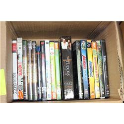 BOX OF 15+ DVD'S